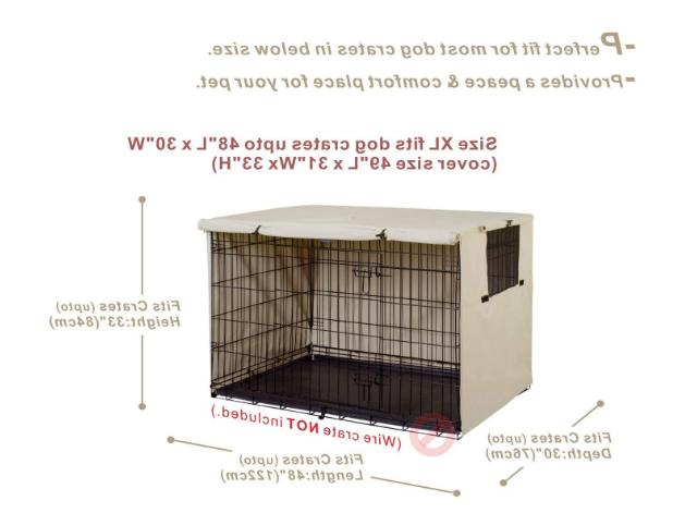 Double Door Cover Kennel 24-48 Inches Wire Crate