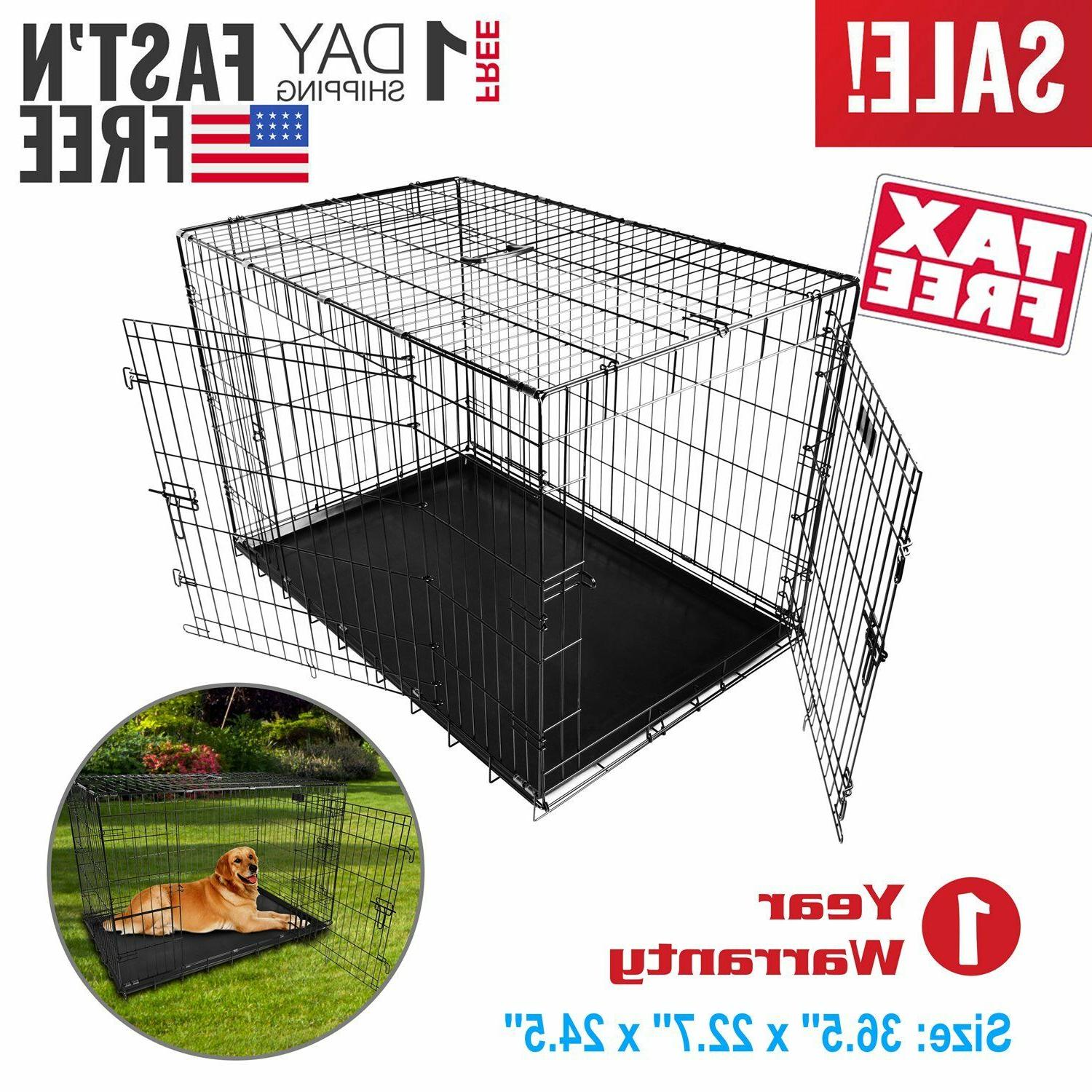 Extra Dog Kennel Cage Metal US SHIP