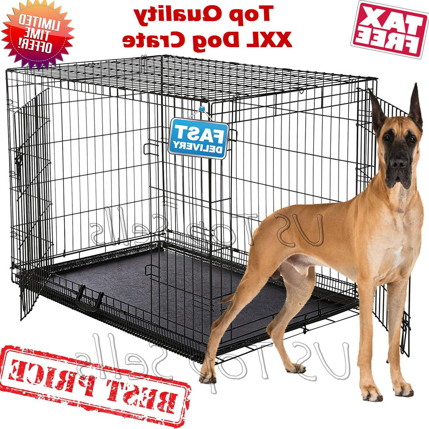 Kennel Cage Metal 2 Tray XL XXL