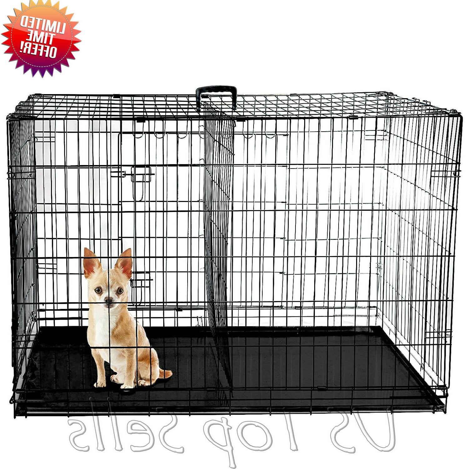 "Extra Dog Kennel 48"" Pet Cage Metal Tray XL"