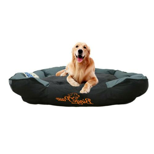 Overstuffed Sofa Dog Extra Large Waterproof Crate Pet Bed Washable XXL