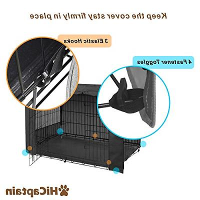HiCaptain Metal Crate Inch Wire Pet Black