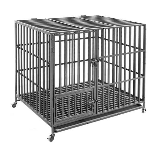 Giant Metal Military Pet Kennel Playpen Large w/Tray