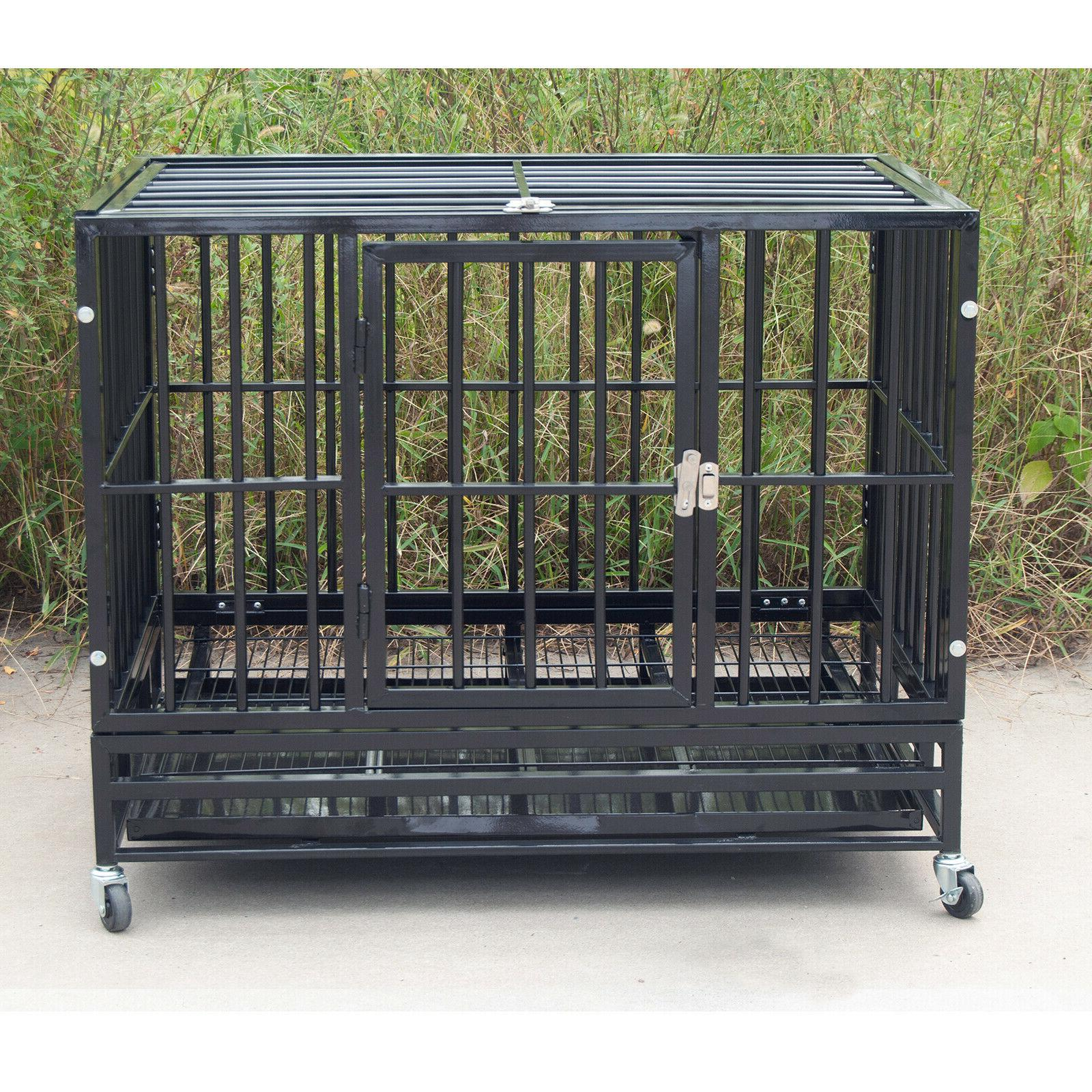 Dog Strong Crate Playpen Wheels&Tray