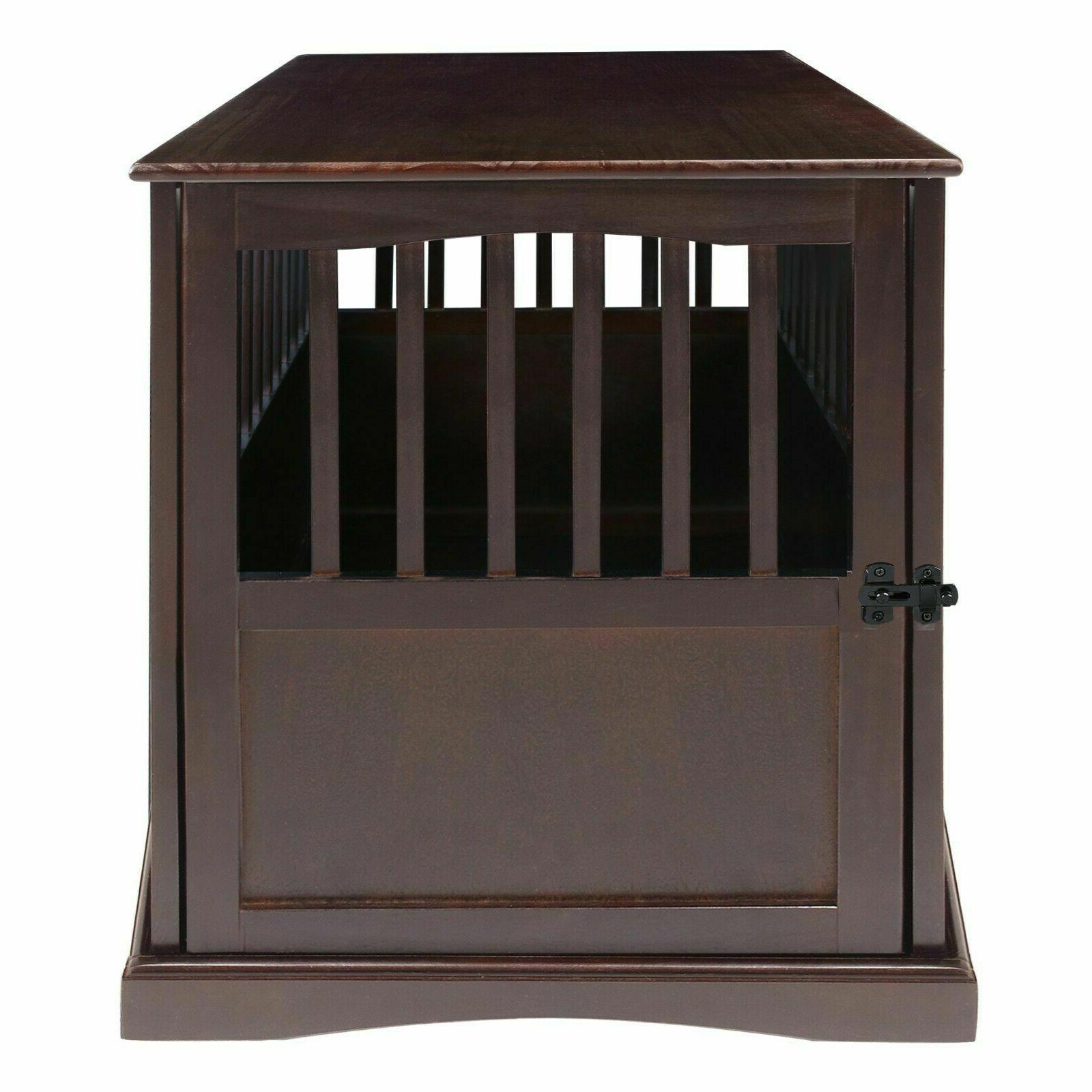 Indoor Wood Large Crate Table Big Dogs Cage Kennel Furniture