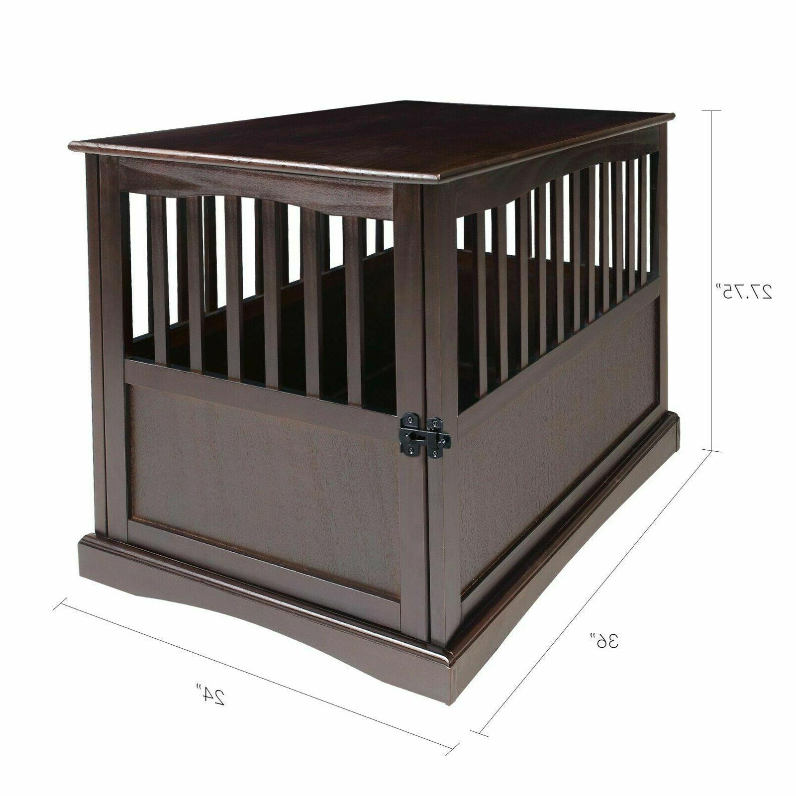 Indoor Dog Crate Table House Big Dogs Cage Furniture