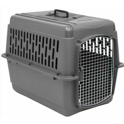 Small Pet Cage Dog Cat Travel Plastic Portable Kennel Safety