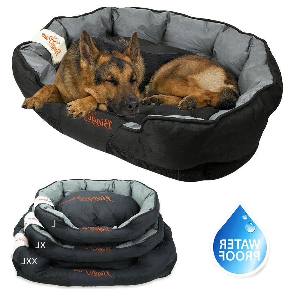 overstuffed sofa dog bed extra large waterproof