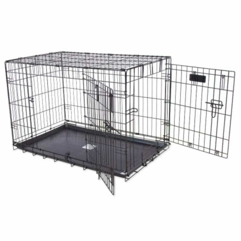 """Precision Pet by Petmate """"ProValu"""" Two Door Wire Dog Crate w"""
