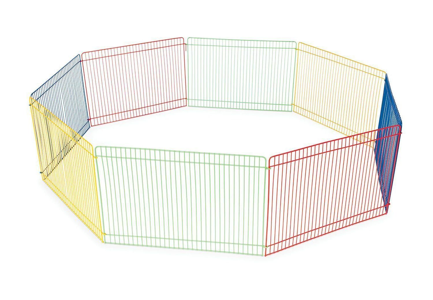 Small Animal Cage Dog Puppy Play Yard Multi Color