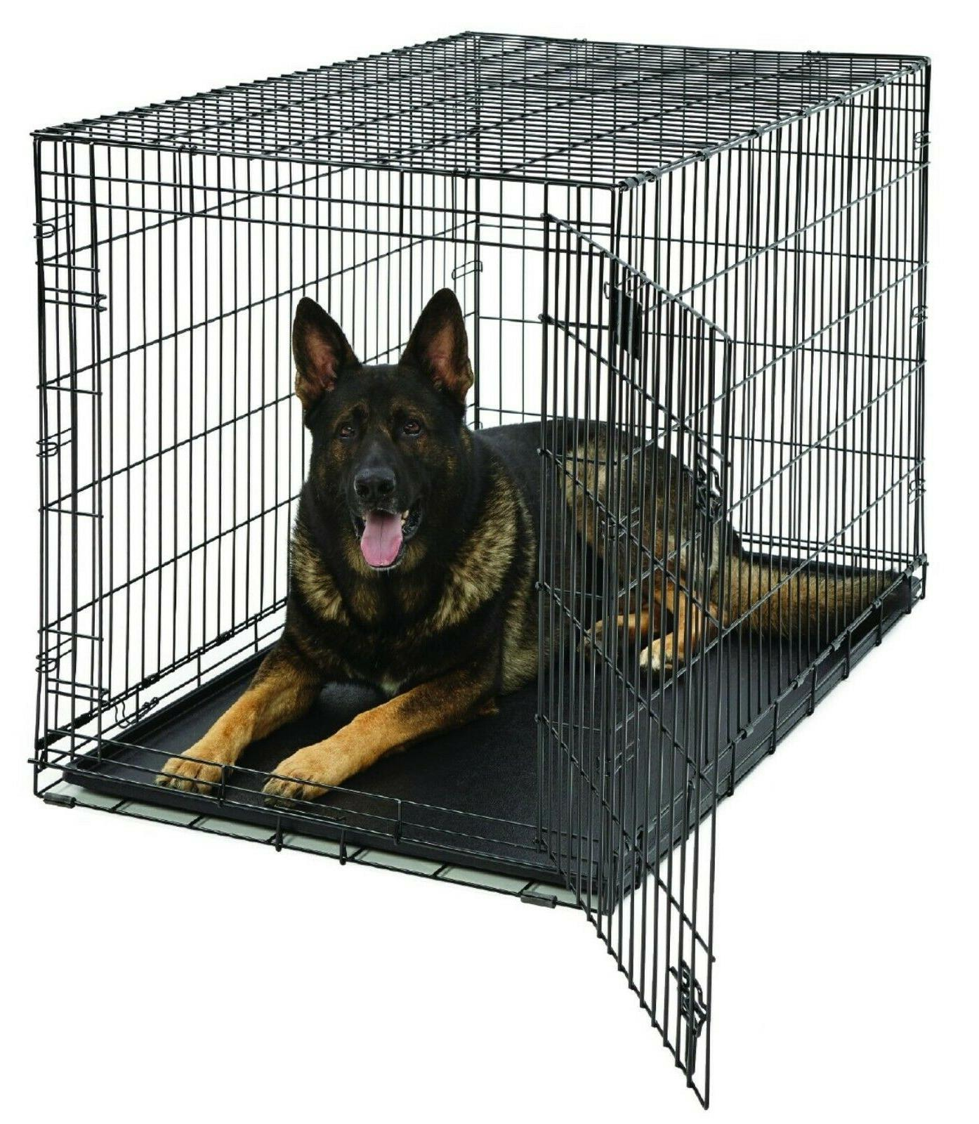 XL Dog Crate 48-Inch Pet Travel Cage Portable Folding Carry