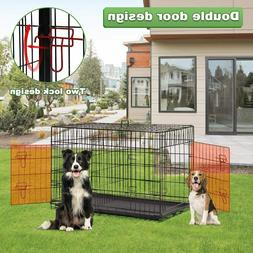Large Dog Crate XL Kennel Extra Huge Folding Pet Wire Cage G