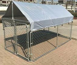 Large Outdoor Chain Link Dog Kennel Enclosure Exercise Pen R