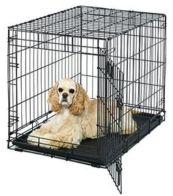 "Medium Dog Crate | MidWest Life Stages 30"" Folding Metal Dog"