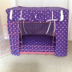MADE TO MEASURE DOG / PUPPY CRATE / CAGE COVER / SPOTTY FABR