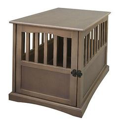 Casual Home Medium Wooden Pet Crate Dog House End Table Nigh