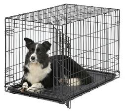 Metal Dog Crate With Divider Medium Size Dog 36'' Collapsibl