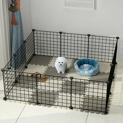 Metal Pet Playpen Dog Kennel Pets Fence Exercise Cage 16 Pan