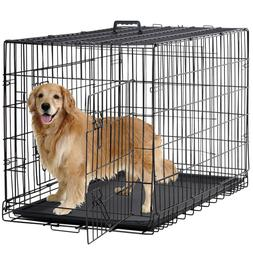 New Dog Crate Cage Extra Folding Large Double Door Pet Crate