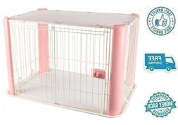 New Pink Small Animal Wire Pet Play Pen Gate Crate Dog Cage