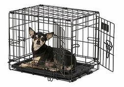 NEW Pet Dog Cat Crate Kennel Cage Bed pan Folding Metal Play