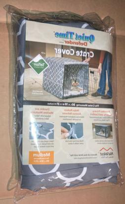 NEW Midwest Quiet Time Defender Gray Crate Cover for Dogs, 3