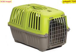 Pet Carrier Hard Sided Dog Cat Carrier Small Animal Green 19