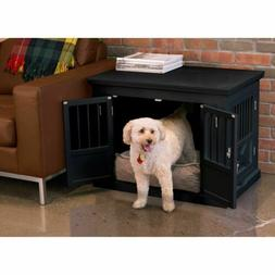 Pet Crate End Table Dog Furniture Kennel Indoor Cage Wood Wo