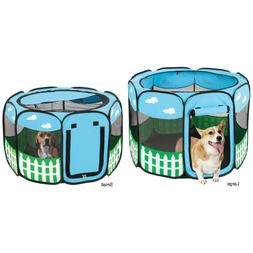 Pet Dog Cat Tent Playpen Exercise Play Pen Soft Crate Kennel