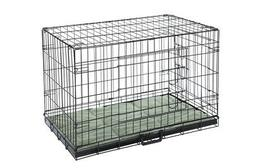 Confidence Pet Folding Dog Crate Kennels 2 Door Puppy Cage W