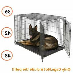 Pet Metal Cage For L-XL Large Dog Cat Puppy Training Folding