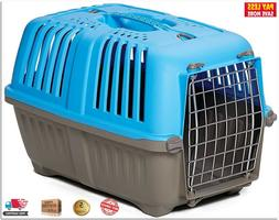 Pet Puppy Carrier In Hard Sided Travel Portable Cage Kennel
