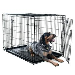 """Petmaker X-Large 2 Door Foldable Dog Crate Cage, 42"""""""