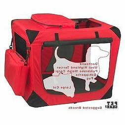 Pet Gear Portable Soft Crate-26 inches-Red