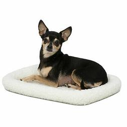 Midwest Quiet Time Bolster White Dog Bed