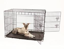 Carlson Secure and Compact Double Door Metal Dog Crate, Inte
