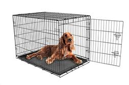 Carlson Secure and Compact Single Door Metal Dog Crate, Inte
