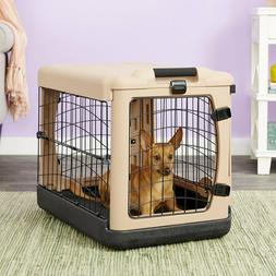 steel dog crate w bolster pad