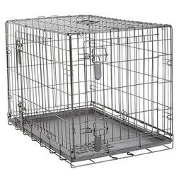 Dogit Two Door Black Wire Home Dog Crates with divider Mediu