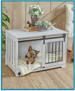 Pet Crate End Table Wooden Furniture Dog Kennel Cage Doghous