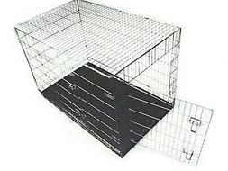 X Large 2 Door Portable Metal Folding Dog Kennel for Home or