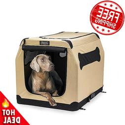 XL Dog Pet Cat Crate Kennel Portable Soft Fabric Home Travel