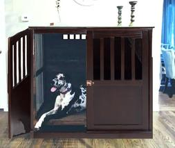 XL End Table Indoor Wood Extra Large Dog Pet Crate Solid Fur