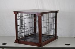 Zoovilla Indoor Wooden End Table Dog Kennel Cage Crate With